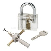 Wholesale Transparent Inner Visual Lock Key Silver Cross Tool for beginner practice Locksmith Lockpick Skill Training