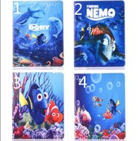 Cheap Finding Nemo Fish Carton Stand leather case TPU cover for Ipad air2 air 2 3 4 mini4 mini retina Sea world fish DORY