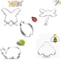bee cookie cutter - DHL Insects Shape Cookie Cutters Butterfly Dragonfly Snail Bee Ladybug Cookie Moulds Biscuit Baking Tools Stainless Steel