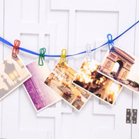 Wholesale 10PCs Colorful Metal Clothe Photo Paper Pin Clips Clothespin DIY Craft Hanging Decor Random Color