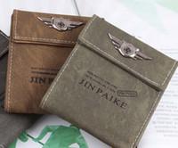 al por mayor monederos del ejército-Monedero de la moda del Ejército ocasional de la lona para hombre tarjeteros de Cente del embrague Mility Bifold para los hombres