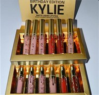 Wholesale New Makeup Lips Kylie Lip Mini Matte Lip Gloss Birthday Edition Kylie Matte Liquid Lipstick Set Factory Direct price