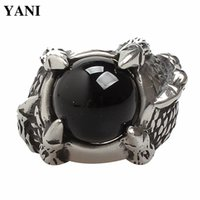 Wholesale Europe and the United States punk goth rock character ruby claws titanium steel foundry men s ring