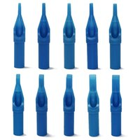 Wholesale Pro Blue Sterile Disposable Tattoo Nozzle Tips Needle Tube Pick G00064 SMAD