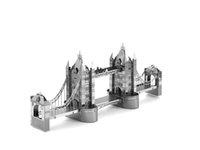 Wholesale Metal DIY nano D three dimensional puzzle Assembling model Tower Bridge of London