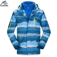 Wholesale in1 Lovers Ski Jacket Women Men Waterproof Thicken Warm Outdoor Snowboard Jacket Winter Snow Coat Sport jaqueta feminina High Q
