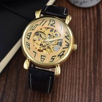 Wholesale Fashion Luxury Automatic Mechanical Watches High Quality Business Wristwatches Dress Casual Watch Skeleton Clock Male