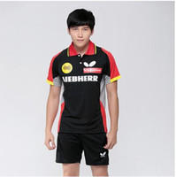 Wholesale 2016 New Arrival Table Tennis Jersey Badminton Clothing Table Tennis Jersey Men Sports T shirt summer style Clothes