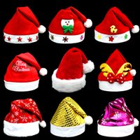 Wholesale 2016 Christmas Ornament Christmas Adults And Children Hat Christmas Gifts A Variety Of Styles Cartoon Hat C2T9025