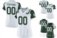 Wholesale 2016 NY Jets Personality Women Youth Game Custom Home Away Football Jerseys White Green FORTE MANGOLD High Quality Stitched Wear