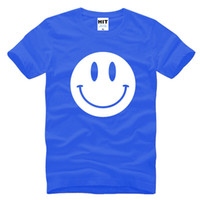 Crew Neck acid t shirts - WISHCART Cute Acid Smiley Face Printed Mens Men T Shirt Tshirt New Short Sleeve O Neck Cotton Casual T shirt Tee Camisetas Hombre