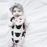 best infant clothes - INS Newborn Romper Best selling Boy Girl Clothes Full Printed Bear Baby Infant One Piece Rompers Kids Clothing Fit Months Leotard