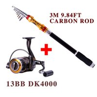 Wholesale Low Profit M Rod With Reel BB Rock Boat Carbon Telescopic Fishing Rod Spinning Fishing Reel Fishing Rod Set Fishing Tackle