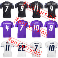 Wholesale 2017 Madrid Soccer Jersey Real Madrid Home Away rd Soccer Jerseys Ronaldo Bale Benzema James Isco Thai Quality Jeresys
