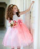 Wholesale New Arrival Long A Line Flower Girl Dress Princess For Wedding Party Prom vestidos infantis de bolinha
