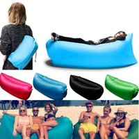 Cheap Lamzac Hangout Fast Inflatable Lounger Air Sleep Camping Sofa Beach Sleeping Bag for Bed Lazy Chair Outdoor Hiking DHL Free Factory Direct