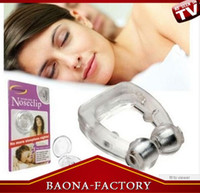Wholesale Snore Free Nose Clip No More Sleepless Nights Silicone Snoring Cessation opp or card package for choices
