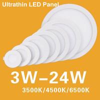 Wholesale 3W W W W W W W W Round SMD LED Panel lights Ultrathin LED Down Lights Commercial LED Ceiling Light Degree