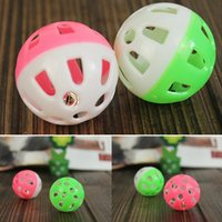 Wholesale Playing Toys Lovely Tinkle Bell Ball Pet Toy Plastic Dog Cat Playing Ball Pet Toy Color Sent At Random cm