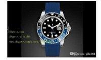 Cheap Mens original box Luxury Supplier Top Quality II Black & Blue Ceramic Bezel 116710LN 116710 Automatic Rubber Blue Folding clasp Men's watch