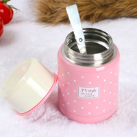 Wholesale Stainless Steel lunch box Insulated Vacuum Bottle High Luminance lunch box DHL shippment