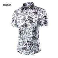 beach shirts men - Summer Shirt Men Short Sleeve Male Beach Hawaiian Shirts Casual Floral shirt For MenPlus Size M XL