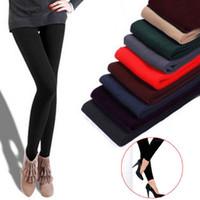 Wholesale New Leggings For Women Arrival Casual Warm Winter Faux Velvet Legging Knitted Thick Slim Leggings Super Elastic