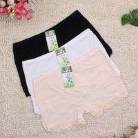 bamboo fiber - 1 piece bamboo fiber women s safety pants women lace boxer briefs Boyshort medium waist underwear for ladies colors