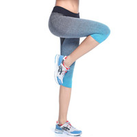 Wholesale Top Selling For Womens Sexy yoga Gym Fitness Workout Sport Cropped Pants Leggings Trouser M LHot