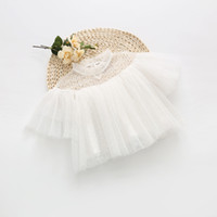 Wholesale Tutu Unique Cute Baby Shirt Summer Kids Clothing Sheer O Neck Cheap High Quality Sweety Child Clothing
