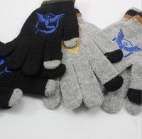 Wholesale Free DHL Poke Gloves Cartoon Mittens Knitted Gloves Warm Gloves for adult and big kids Five Fingers Gloves