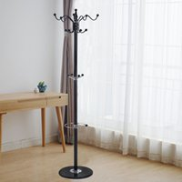 Wholesale 15 Hooks quot Metal Coat Hat Jacket Stand Tree Holder Hanger Rack w Marble Base