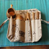 Wholesale Bamboo Tea Sets Handmade Tea Tools Include Needle Spoon Clip Tea Strainer Vintage Chinese kung fu Tea Set of Drinkware