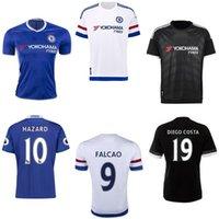 Wholesale 2016 Chelsea Soccer Jerseys Uniforms Top Thai HAZARD FABREGAS CUADRADO TORRES DROGBA DIEGO COSTA Football Shirt TERRY