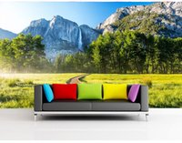 bedroom dimensions - 3D naked eye mountain path landscape murals large murals wallpaper living room bedroom wallpaper painting TV background wall three dimension
