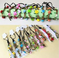 accessories pictures - Bride Bohemian Flower Headband seaside beach flower head ornaments Bride bridesmaid wreath Holiday accessories hairband pictures E360