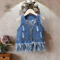 beautiful winter coats - Hug Me Girls Vest Coat Waistcoat kids New Autumn sleeveless Fashion Beautiful Fashion Denim Vest AA