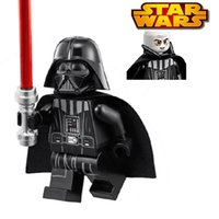 Wholesale 1pc Star Wars Darth Vader darth revan with a red Lightsaber Princess LEIA Minifigures Building Blocks Kids Toys Gift compatible