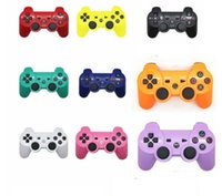 Wholesale 2016 new PS3 Game Controllers wireless bluetooth dualshock joysticks multi colors with retail box DHL FREE