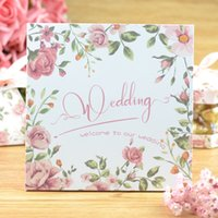 Wholesale 2016 new elegant Wedding Invitation Cards Rose Flower Personalized Wedding Party Printable Invitation Cards Wedding Favors
