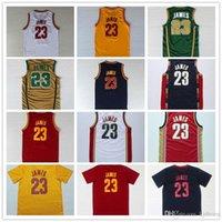 best batik - 2016 Hot Sale LeBron s Patch Jerseys Stitched for Best quality jamES College Retro Theme Costume Size S XXL