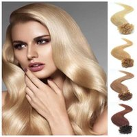 best virgin hair brands - u tip hair extensions human Remy human hair extension Nail tip hair extension best brand U tip extensions