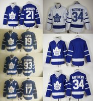 Wholesale 2016 Ice Hockey Jerseys Men s Maple Leafs Joffery Lupul Wendel Clark James van Riemsdyk Auston Matthews Stitched Jersey