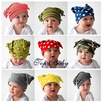 Wholesale Fashion Baby Kids Elf Hats Strips and Dots Caps Colors Lovely Children s Hats Photo Props