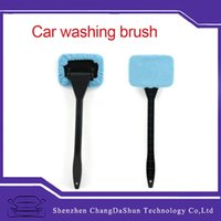 Wholesale Microfiber Auto Window Cleaner Long Handle Car Wash Brush Dust Car Care Windshield Shine Towel Handy Washable