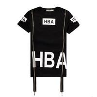 Women air ray - 2016 Hot Men Fashion Hip Hop T Shirt Zipper Side HBA Hood By Air Harajuku T shirts Spinal Cord X ray Streetwear Tees