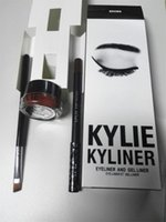 Wholesale 2016 New Kylie Cosmetics Kylie Jenner Kyliner In Black Brown with Eyeliner Gel pot Brush VS Younique DHL