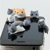 anti dust plug cat - Cheese Cat Anti Dust Plugy Cute Cartoon Design Cell Phone Ear caps plug Cheese Ear Anti Dust Earphone Plug for iPhone Samsung dhl free