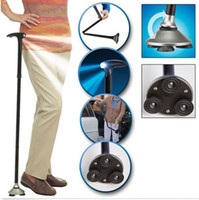 Wholesale Trusty Cane Ultra light Handle Dependable Folding Cane with Built in Light Walking Cane Magic Foldable Cane Trusty Cane for Elder