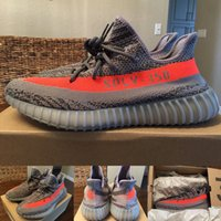 Wholesale Season SPLY boost v2 sply Kanye West SPLY Boost V2 BB1826 Beluga Solar Red big orange streak across Y3 Boost